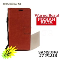 Samsung Galaxy J7 Plus Leather Case Luxury Wallet Flipcase