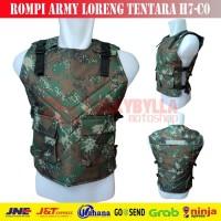 TERBARU Rompi Motor Army Loreng Tentara H7-C0 | Body Protector