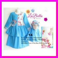 [GAMIS ANAK] Gamis Anak Labella biru muda Crepe | Baju Muslim Anak Bra
