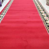 Karpet masjid kingdom 120x600 merah maroon