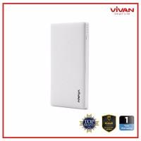 BGR VIVAN VPB V10 10000mAh 2 USB Ports 2A 1A Power Bank White Garansi
