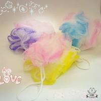 Bath Ball Sponge Motif Bunga - Spon Mandi