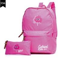 Tas Anak Perempuan Gf-1 Tas Sekolah Anak Plus Dompet Pencil Pink
