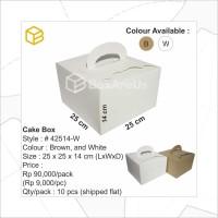 # 42514-W | Dus Kue, Box Kue, Cake Box, Gift Box, Kado, Souvenir