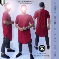 Jual Gamis Kaos Pakistan Maroon Baju Koko Kurta Murah