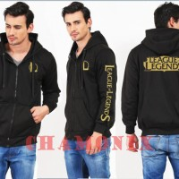 Harga jaket sweater zipper hoodie league of legends   Pembandingharga.com