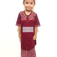 Baju Muslim Anak Sarung Celana Koko Peci Sarkoci - Turki 4 5 T AFA4316