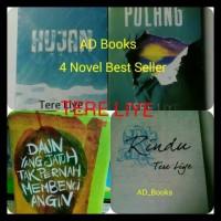 Paket 4 Novel Tere Liye (Hujan, Pulang, Rindu, Daun Yang Jatuh )