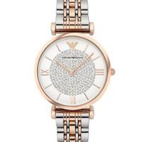 Jam tangan wanita original EMPORIO ARMANI AR1926 crystal rose gold