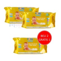 Tissue Basah Pure Baby Hand & Mouth Baby Wipes isi 60 Orange Chamomile