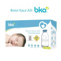 BKA Breastmilk Storage Bottle / Botol Kaca ASI 100ml 8pcs