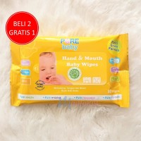 Tissue Basah Pure Baby Hand & Mouth Baby Wipes isi 10 Orange Chamomile