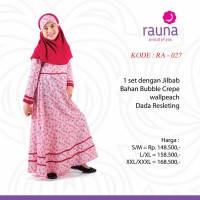 Dress / Gamis+Jilbab Anak Rauna RK 027