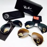 Kacamata Rayban Aviator 3026 Kaca Diamond Frame Metal Sunglasses