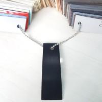 Taco Edging Hpl 003-AA HITAM JERUK / BLACK DOFF Lebar 22mm x Tebal 1mm