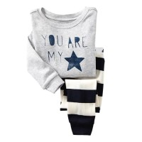 Piyama Anak Laki-Laki Baby Hongkong You Are My Star Grey Stripes Pant f8de8f976b