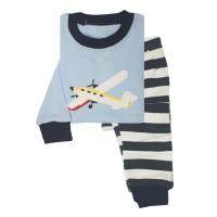 Piyama Baju Anak Laki-Laki Baby Hongkong Aero Plane Blue Stripes Pant d5aacb39dd