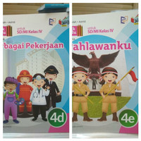Satuan Buku SD Tematik kelas 4 Tema 4 D E Erlangga