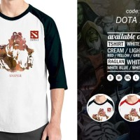 Kaos Raglan Game Dota 24 - Tshirt Oblong Gamers - Baju Distro Ordinal