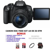 kamera digital camera vlog CANON EOS 700D 18 55 IS STM CANON 700D KIT