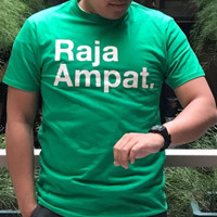 Kaos Raja Ampat Lengan Pendek Polos Indonesia Travel Backpacker