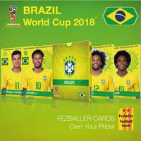 Fezballer Cards Kartu bola edisi tim BRAZIL World Cup 2018