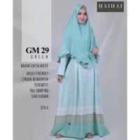 Terbaru 2018 Gamis Dewasa Premium Haihai Gm 29 Hijau Abu Merah Muda -