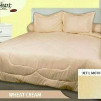 Sprei King Polos. Merk My Love. Warna Wheat Cream. Ukuran 180X200