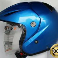 HELM INK CX 22 CYAN BLUE SNI DOT 100% ORIGINAL
