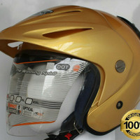 HELM INK CX-22 SATIN GOLD SNI DOT 100% ORIGINAL