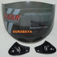 Kaca Helm Ink Centro Kyt Djmaru Merk Clear Warna Hitam-Smoke