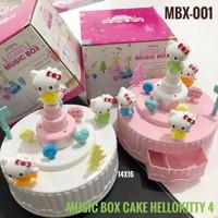 MUSIC LOVE CAKE HELLO KITTY / KOTAK MUSIK KUE ULTAH HK