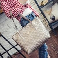 tas tangan handbag shoulder sling bag wanita besar gosh elle mk silver