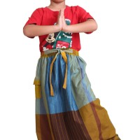 Sarung Celana Anak Kids Nazheef S 161 - Brown Blue