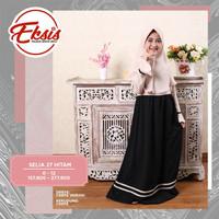Seply Selia 27 Hitam - Baju Muslim Anak - Gamis