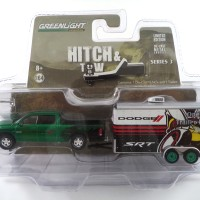 GREENLIGHT GREEN MACHINES HITCH & TOW RAM 1500 SPORT AND CAR HAULER