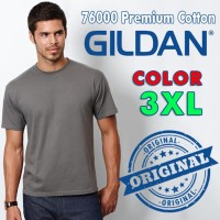 KAOS POLOS GILDAN 76000 Premium Cotton ( SIZE XXXL )