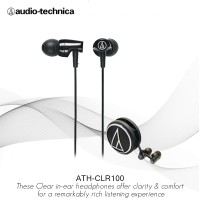 Special Price Audio-Technica ATH-CLR100 BK Earphone ( BLACK )