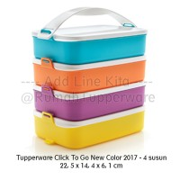Tupperware Click To Go New Color 2017 - 4 susun rantang makan inovatif