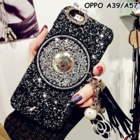 Hard Case Elegant Oppo A39 A57 Glam Shiny Glitter Tassel Cute Murah