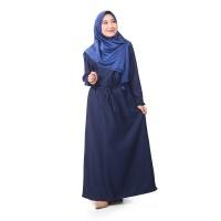 Muslimore Baju Muslim Wanita Gamis Murah Navy Polos Balotelli XGBPN01