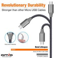 🔌Kabel Data Fast Charging Micro USB Nylon   1m Best selling Samsung