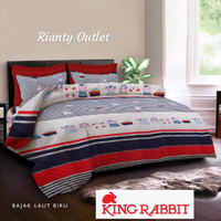 Full Set Bed Cover King Rabbit - Single 140 - Bajak Laut