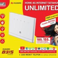 Huawei HOME B315S UNLOCK 4G Bundle Indosat UNLIMITED Internet 1 TAHUN