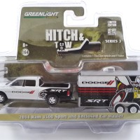 GREENLIGHT HITCH & TOW 2014 RAM 1500 SPORT AND ENCLOSED CAR HAULER