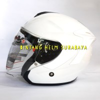 Helm Half face INK Dynamic Solid White