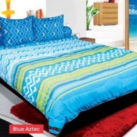 Terbaru Bedcover Set My Love Blue Aztec No.1 King 180 T30 Bcs Zigzag