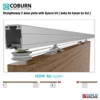 Paket Coburn Sliding Straightaway 2 Daun Pintu With Syncro Kit