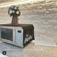 Cover Oven / Penutup Microwave Bismillah Hitam