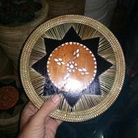 Jual Tas rotan dengan motif asli Lombok Murah